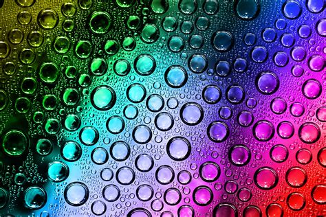 colorful water colorful water droplets free wallpaper