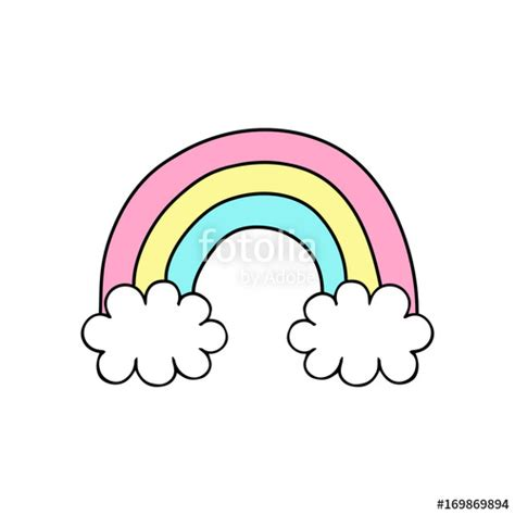 rainbow doodle drawing quot rainbow vector illustration doodle drawing rainbow