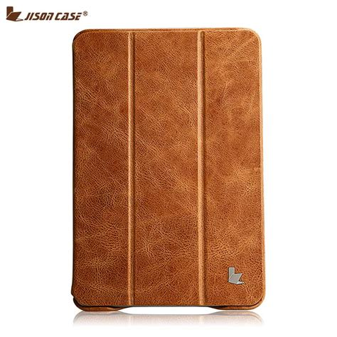 Book Cover Smart Flip 2 3 Wallet Softcase Leather 1 jisoncase luxury genuine leather for mini 2 3 thin kickstand folio flip smart cover
