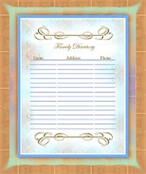 family reunion book template family reunion booklet templates