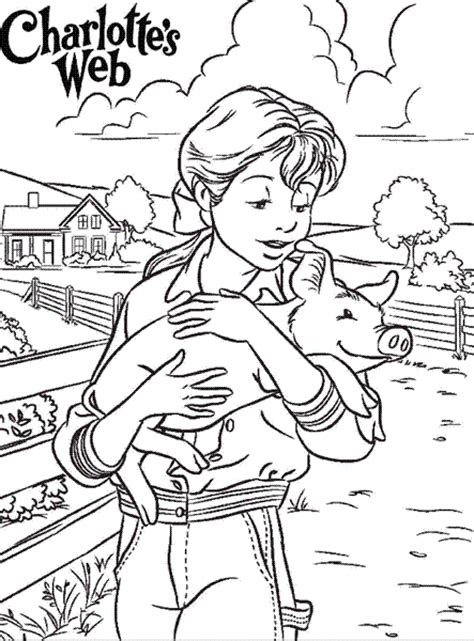 charlottes web coloring pages charlotte s web pinterest