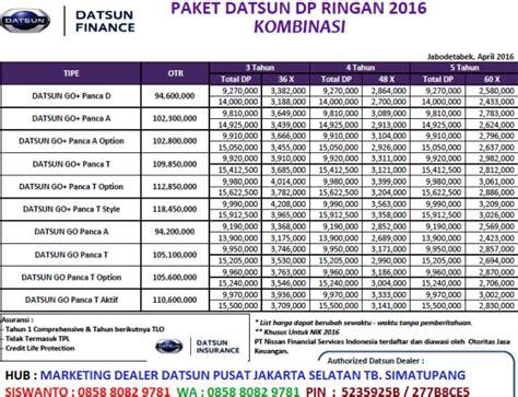 Datsun 3 Baris 1200cc informasi promo daftar harga terbaru mobil nissan