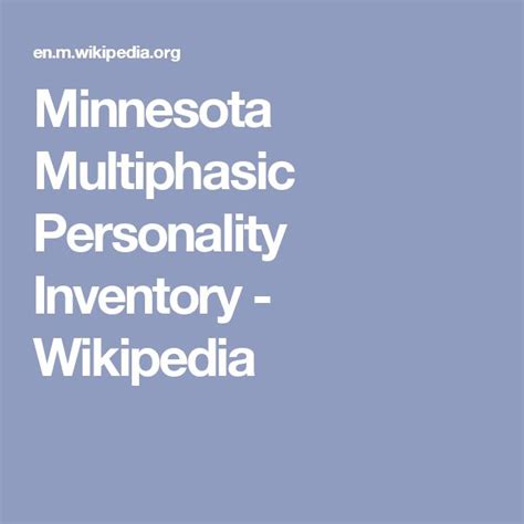 minnesota multiphasic personality inventory test best 25 minnesota multiphasic personality inventory ideas