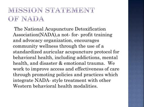 National Detox Nada by Ppt Auricular Acupuncture Powerpoint Presentation Id
