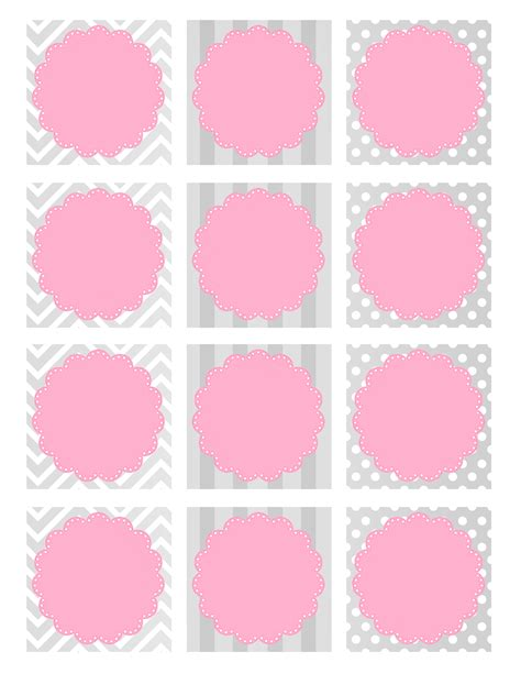 Baby Girl Shower Free Printables How To Nest For Less Free Printable Baby Shower Favor Tags Template