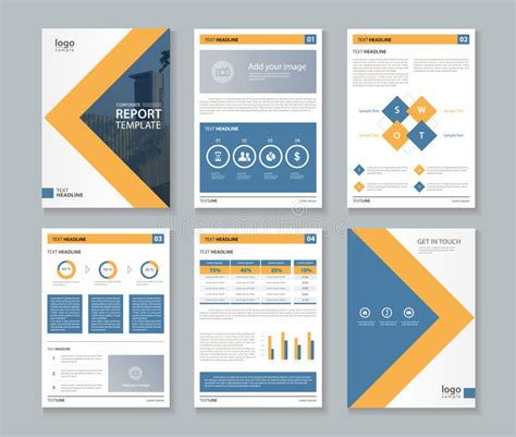layout of a law report business company profile report and brochure layout