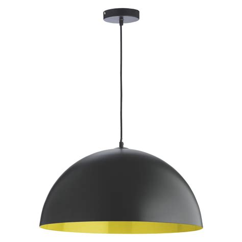 overhead lighting samuel metal ceiling light black and yellow buy now at