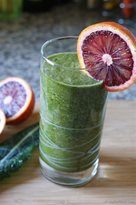 Will A Whole Detox Make My Seman Taste Better by Blood Orange And Kale Cleanse Smoothie Recipe Chefdehome