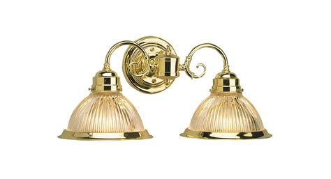 Brass Bathroom Light Fixtures Design House 503029 Polished Brass Millbridge Traditional Classic 2 Light Lighting