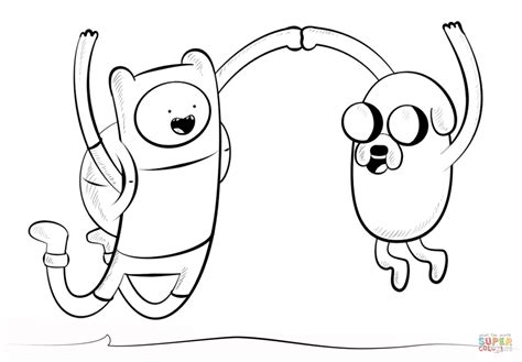 jake and finn coloring page free printable coloring pages