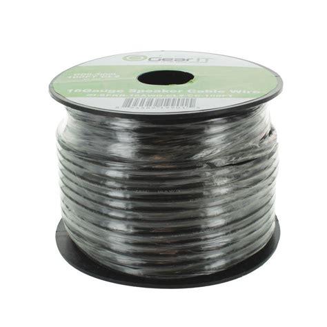 gearit 100 ft 16 cl2 in wall speaker wire