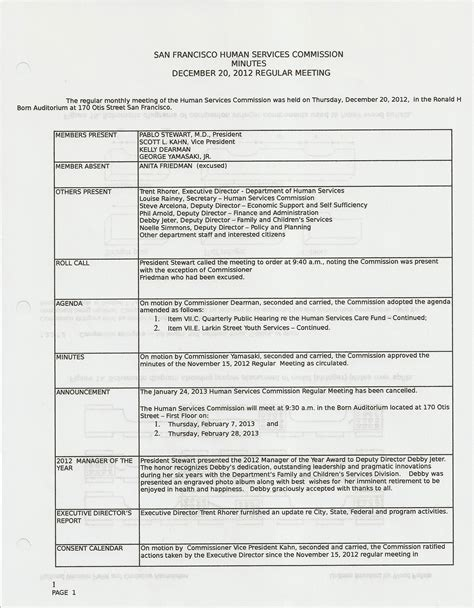 California Architects Board All Star Activist Architect Meeting Minutes Template