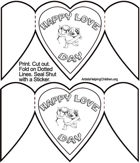 s day card templates free printable how to make cupid valentines day cards crafts for