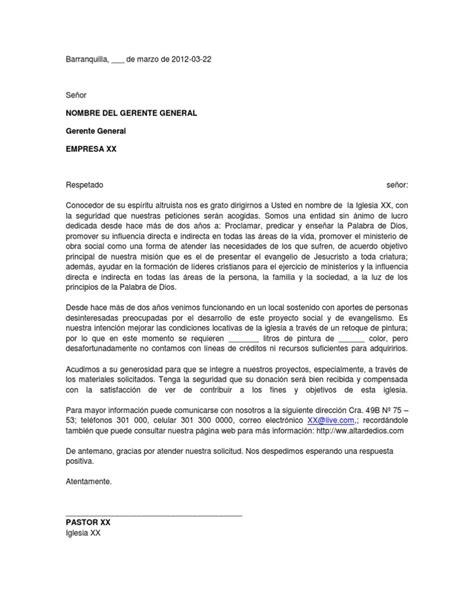 formato modelo ejemplo solicitud de adelanto de scribd modelo de carta de solicitud de donaci 243 n