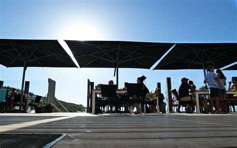 terrasse 5x5m grand parasol haut de gamme en aluminium 4x4m ou 5x5m