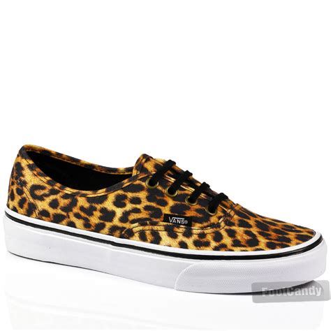 leopard sneakers vans authentic leopard zebra skateboard skate sneakers