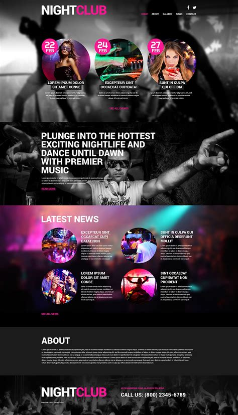 themes in the story night night club wordpress theme