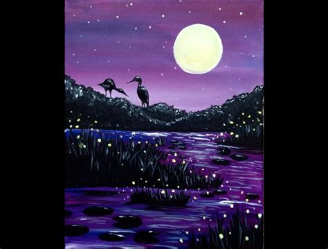 paint nite akron evening pond presented by paint nite akron the