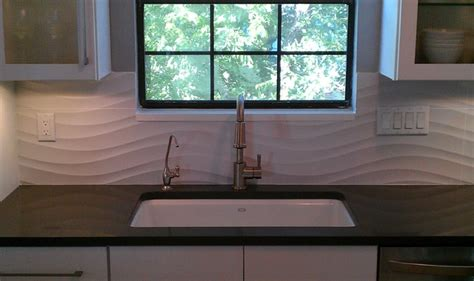 kitchen backsplash wave panel tile contemporary