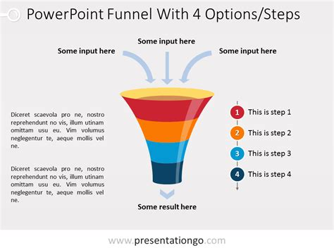 Powerpoint Funnel Chart With 4 Steps Presentationgo Com Funnel Chart Template Powerpoint