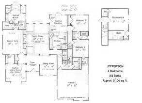Ranch Style Homes Floor Plans by Gallery For Gt 4 Bedroom Ranch House Floor Plans