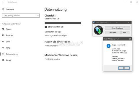 reset tool windows 10 reset data usage datennutzung zur 252 cksetzen mit einem