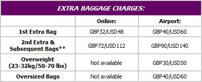 virgin baggage fee virgin atlantic baggage fees 2011 airline baggage fees com