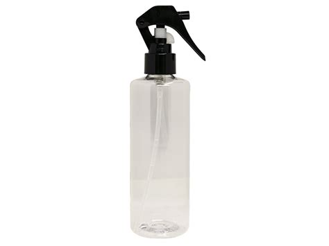 Pet R 250 Ml N Sprayer 24 410 Foil Silver clear pet spray bottle 250ml with easy mini black sprayer eround