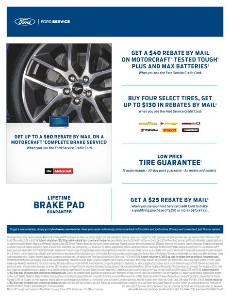 ford service coupons service specials ford service maintenance specialists