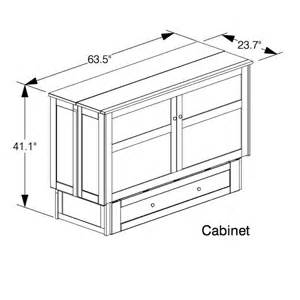 Murphy Bed Size Plans Clover Murphy Bed Cabinet