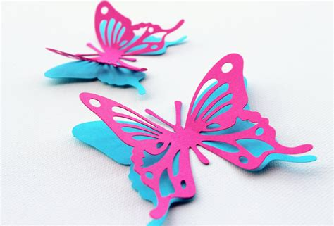3d Butterfly Decoration 2 Navy Blue Khemiko Shops mydreamdecors 3d butterfly wall decor pink and blue
