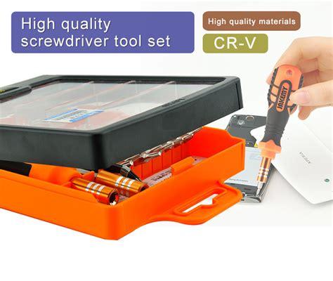 Jakemy 33 In 1 Removal Bit Screwdriver Set Jm 6093 jakemy 33 in 1 versatile hardware screwdriver tool kit cr v steel bits jm 8101