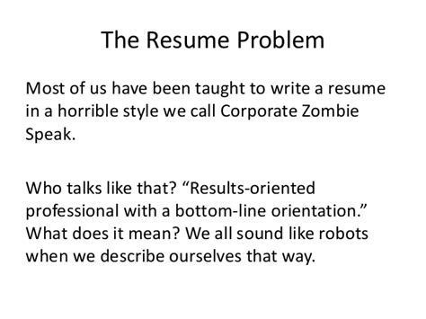the resume problem most of