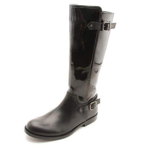 gallop black patent leather boot