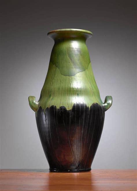 Large Green Floor Vase Large Black And Green Ceramic Kahler Floor Vase Denmark