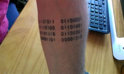binary code tattoo the 20 best weirdest and worst tech tattoos digital trends