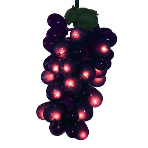 100 lights 5 purple grape cluster christmas set ebay