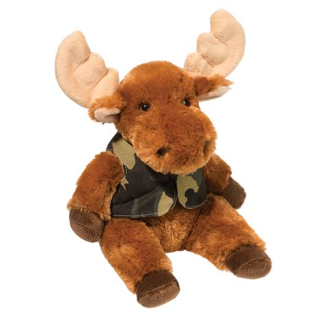 Boneka Teddy Moose elliott mooose with camo vest douglas toys