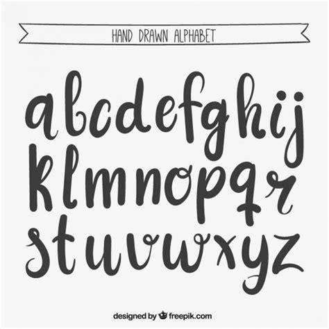 imagenes escrita geniales mano escrita alfabeto descargar vectores gratis