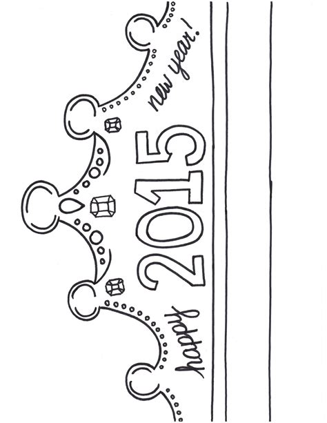happy birthday crown template search results for new years 2015 crown printable