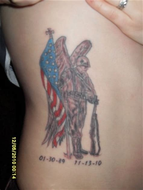 army guardian angel tattoo on ribs tattooimages biz