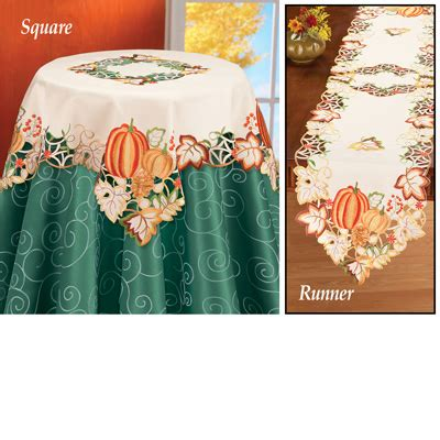autumn harvest table linens fall harvest pumpkin table linens from collections etc