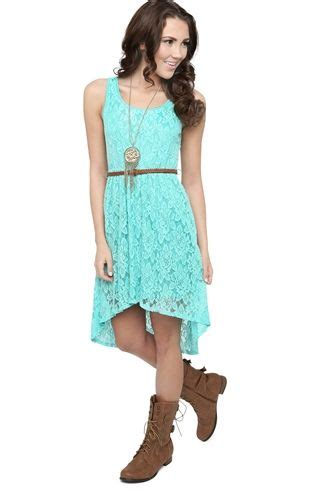 lace high low dress with faux leather belt my style