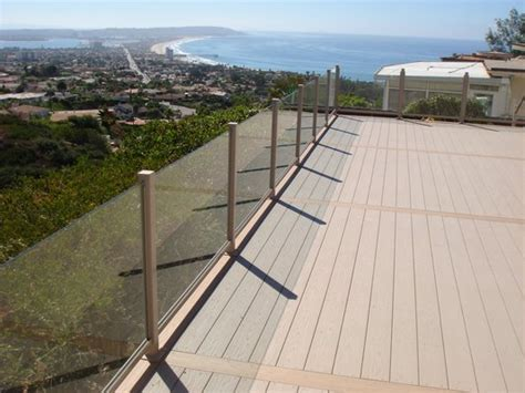 Glass Patio Railing Systems by Glass Deck Railing Systems Cost 187 Design And Ideas