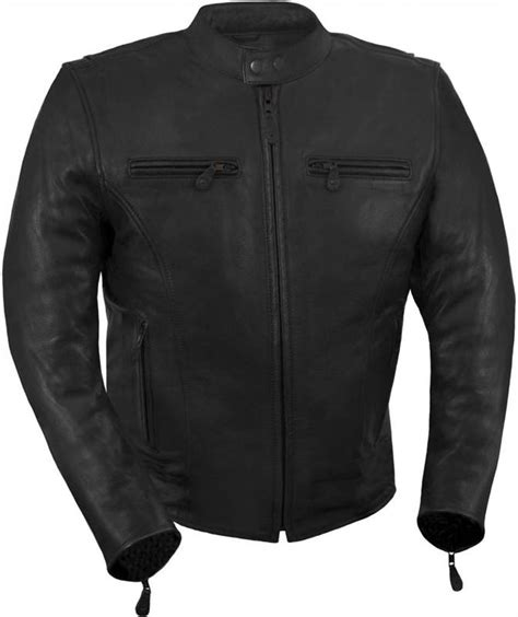 vented leather motorcycle jacket true element mens light weight vented leather motorcycle