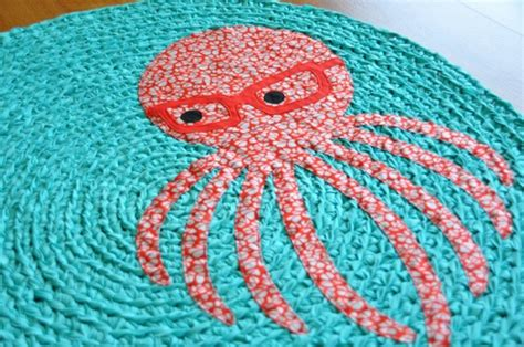crochet rug patterns with fabric geeky octopus d decorative crafts for craft