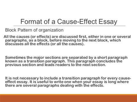 Sles Of Cause And Effect Essay sles of cause and effect essay 28 images cause and