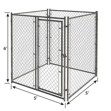 ft   ft  chain link kennel panel pet kennels