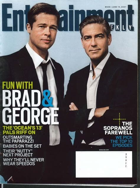Brad Pitt George Clooney Do Entertainment Weekly by The Jumping Frog Used And Out Of Print Books
