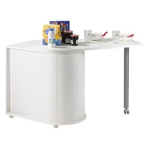 meuble table cuisine table pivotante et meuble de rangement de cuisine blanc
